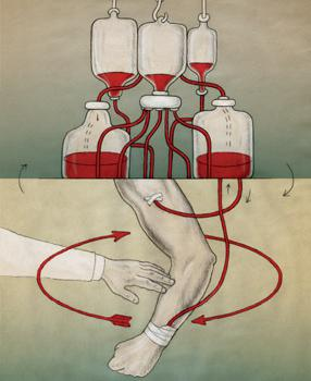 кръвопреливане в групи