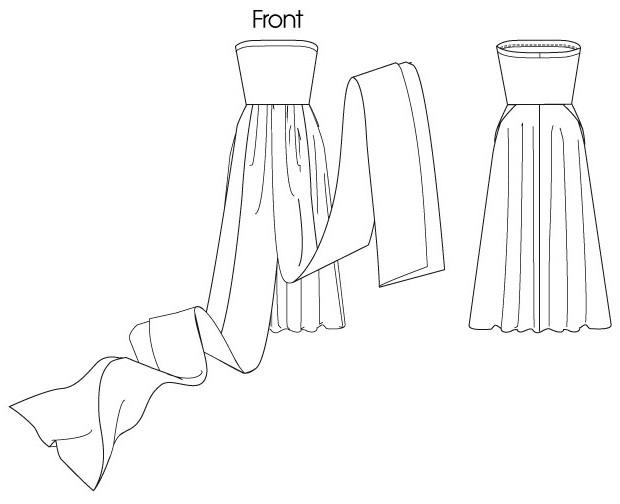 trasformatore vestito lungo