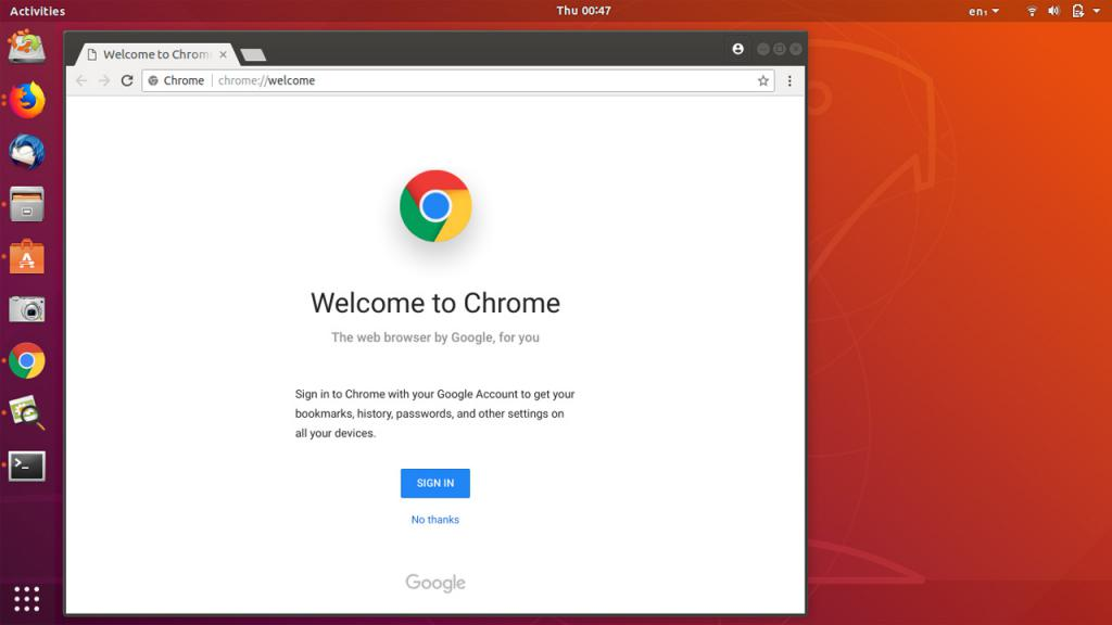 Completamento del processo di installazione di Chrome su un PC