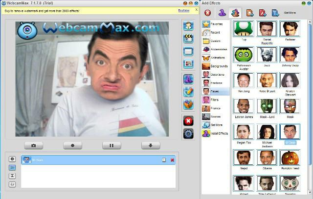 Webcam distortion prog