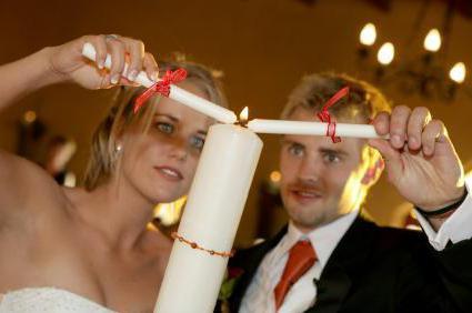 Candele da sposa fai da te