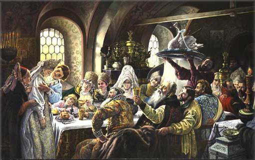 cerimonia di nozze nell'antica Russia