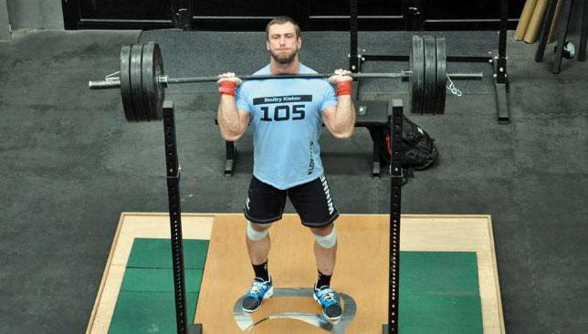 L'allenamento di Dmitry Klokov