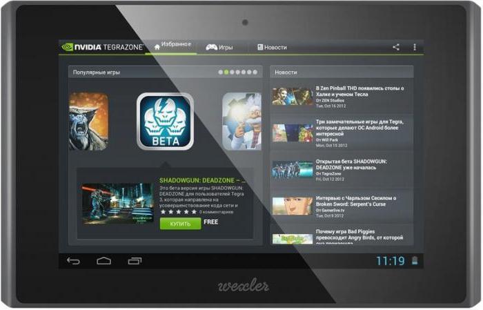 touchscreen 7t della scheda wexler