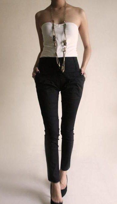 шта да носе женске класичне панталоне