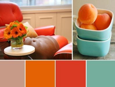 di che colore è combinato con l'arancione