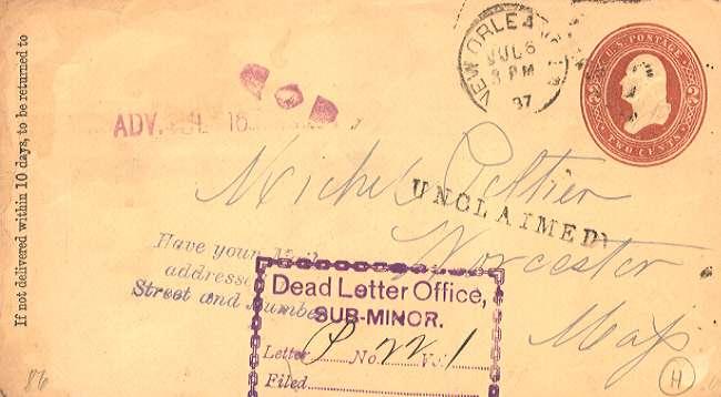 Lettera come articolo postale