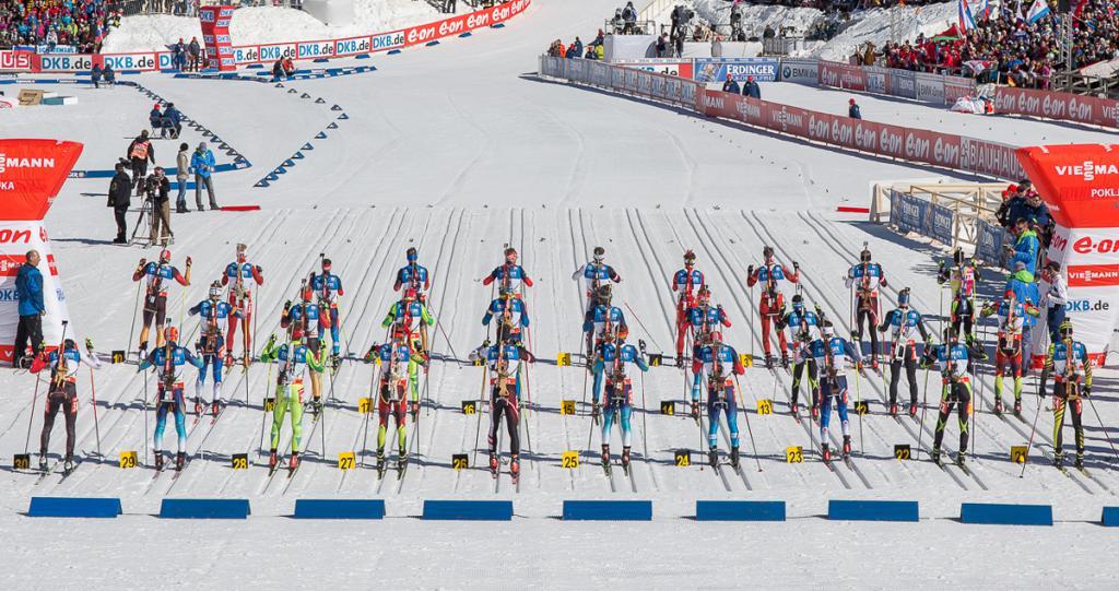 inizio di massa del biathlon