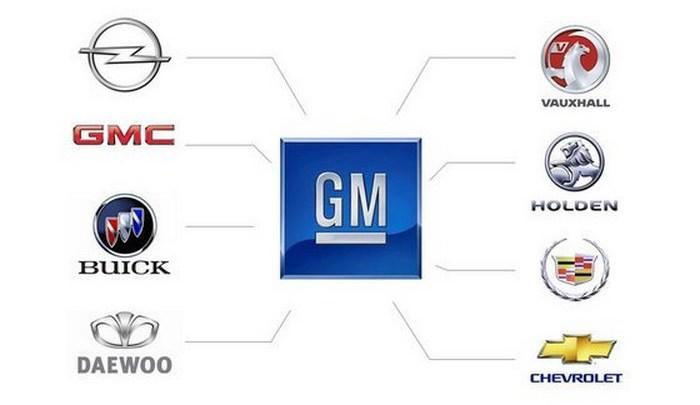 Марки на General Motors