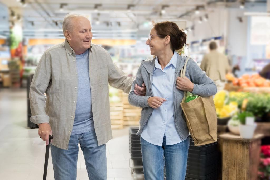aiuto per una persona anziana