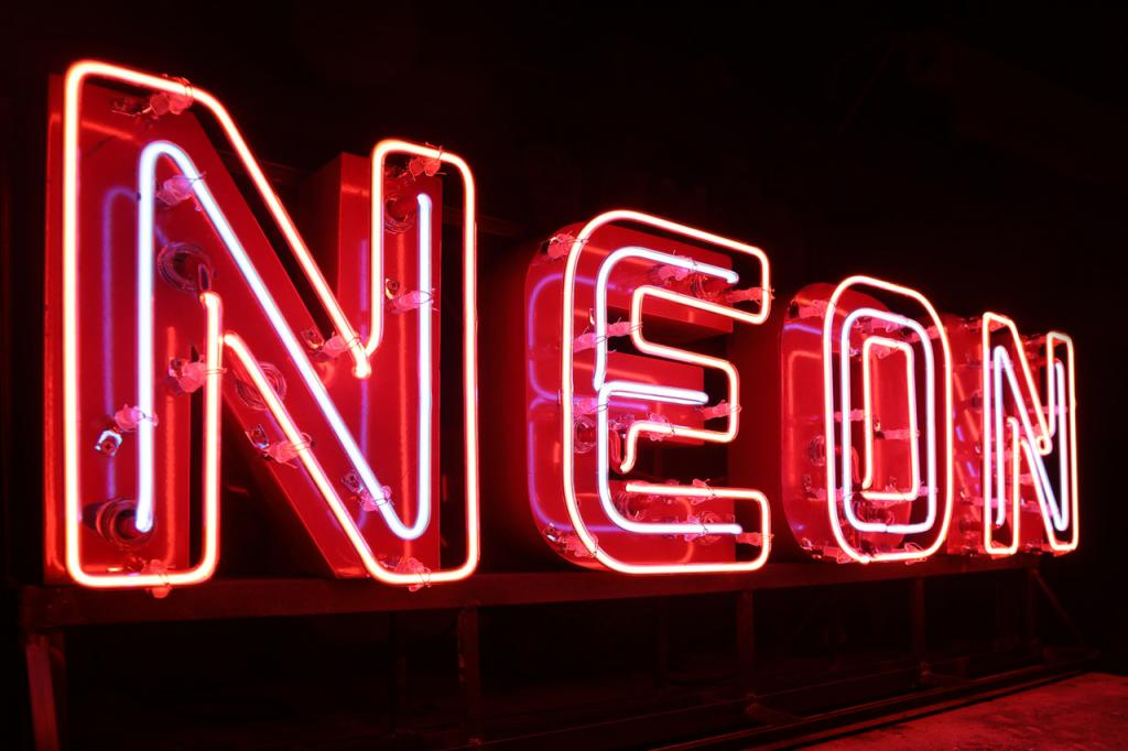 segno al neon