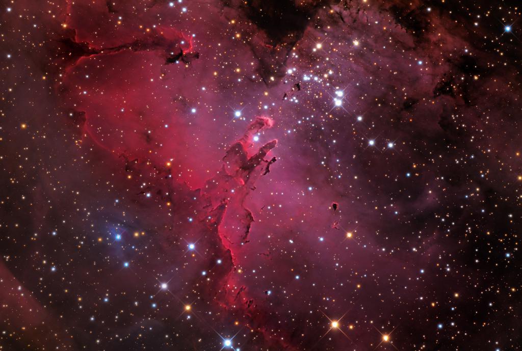 Nebulosa di gas nello spazio