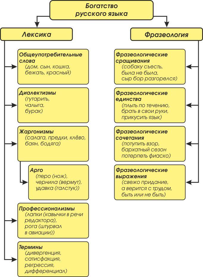 Vocabolario e fraseologia della lingua russa