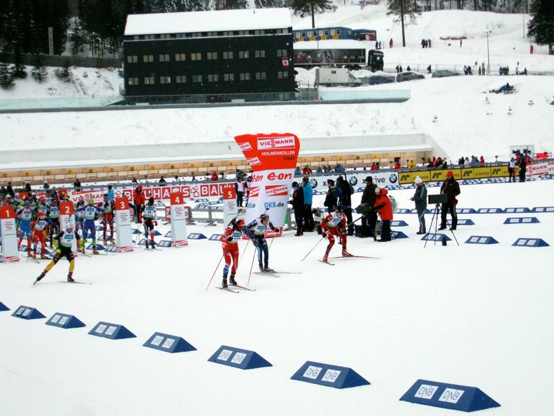 rozpocznij biathlonową pogoń