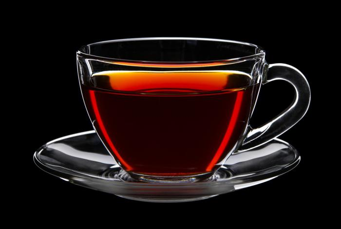 čaj černá kalorie