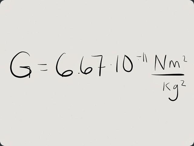 senso della costante gravitazionale
