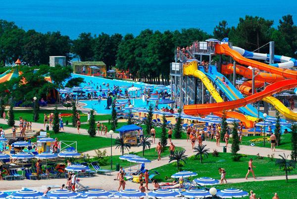 il più grande parco acquatico in Russia