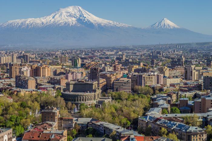la capitale dell'Armenia è Yerevan