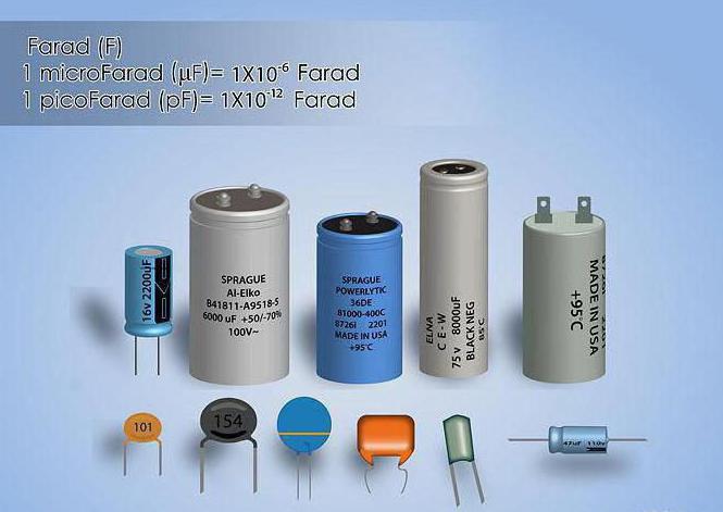 kondenzatorski kapacitivni mikrofarad