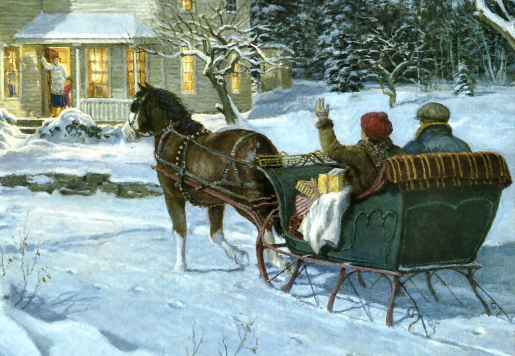 Inverno! .. Il contadino trionfa ...
