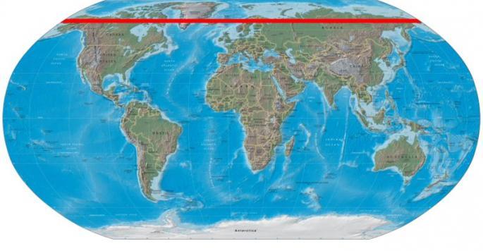 Circolo polare artico della Russia