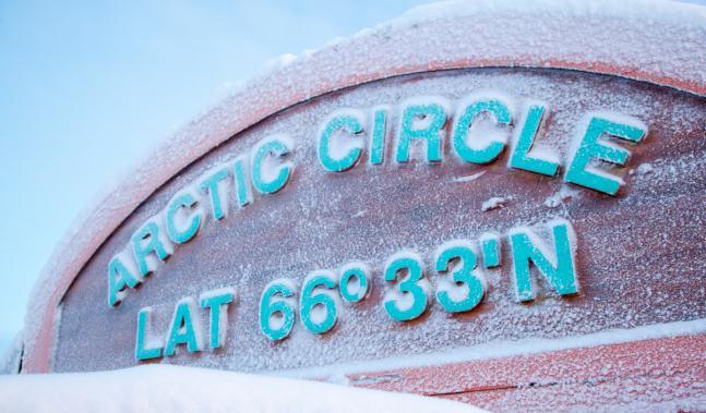 Southern Arctic Circle, latitudine