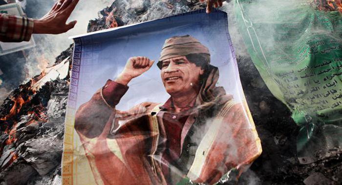 Libia con Gheddafi