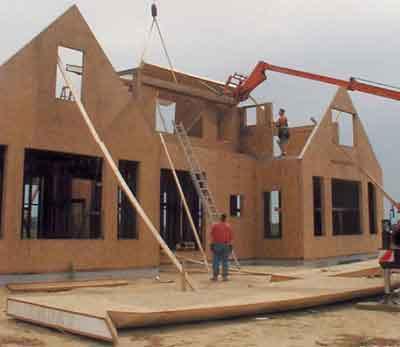 costruire una casa di pannelli di avvoltoio