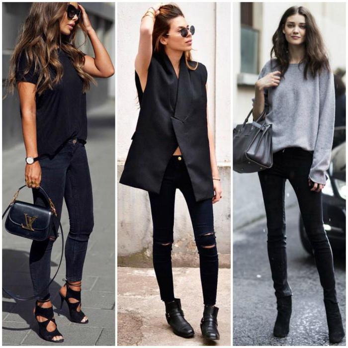 cosa indossare con i jeans neri