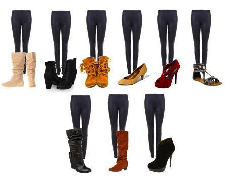 co boty nosit legíny
