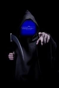 Modri zaslon smrti Windows XP.
