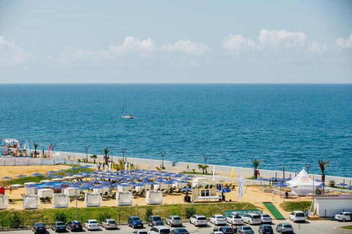 spiaggia sabbiosa in Adler dove