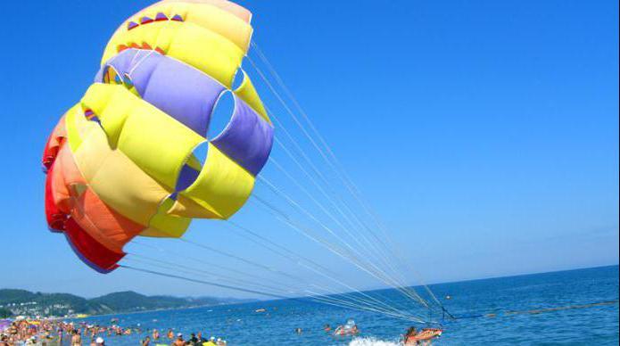 piaszczyste plaże w regionie Krasnodar