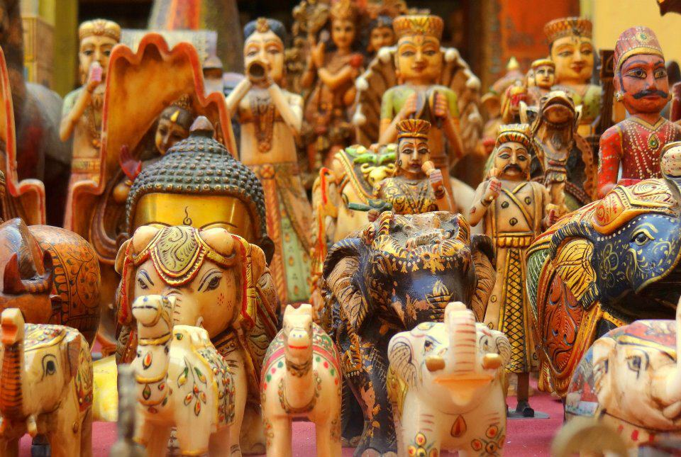 Varietà di souvenir indiani