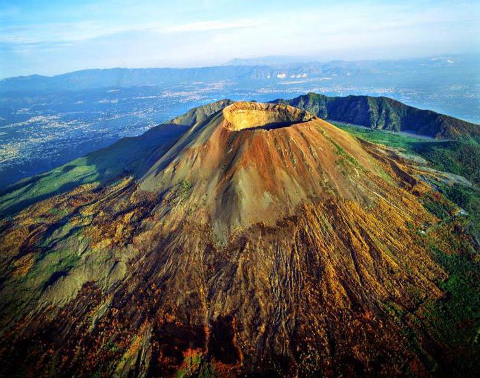 kjer je vulkan vesuvius