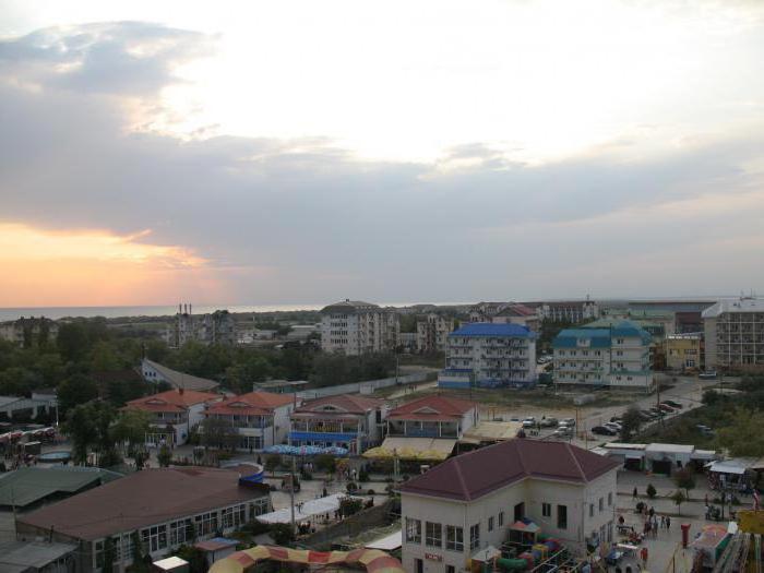 Kavkazská pláž Vityazevo, kde je