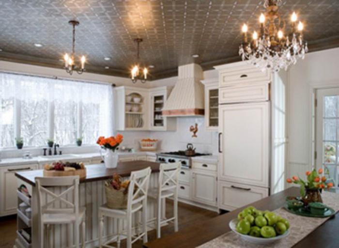 projekt sufitu w kuchni