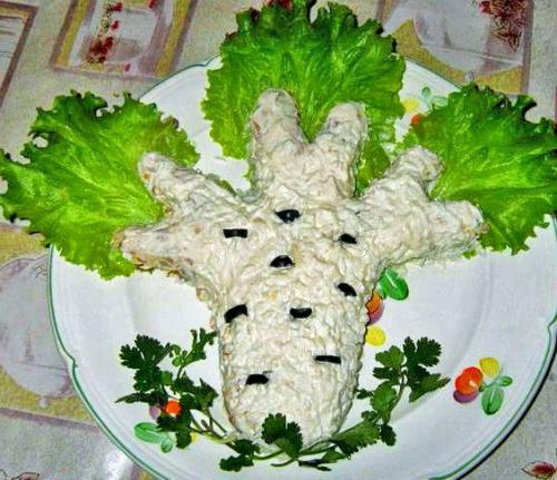 Przepis na sałatkę z białej brzozy