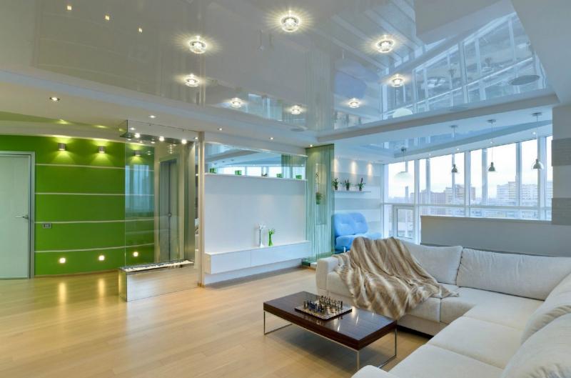 minimalismo del soffitto lucido