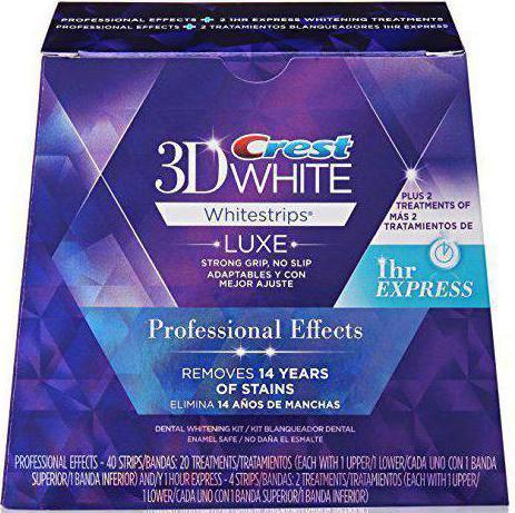 Strisce sbiancanti 3d effetti professionali bianchi
