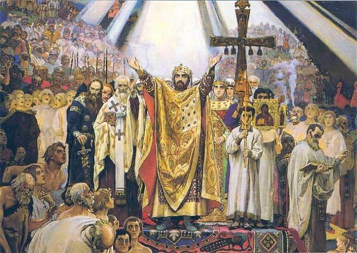 Принцът кръсти Рус