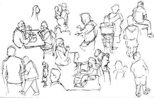 kako nacrtati skice ljudi