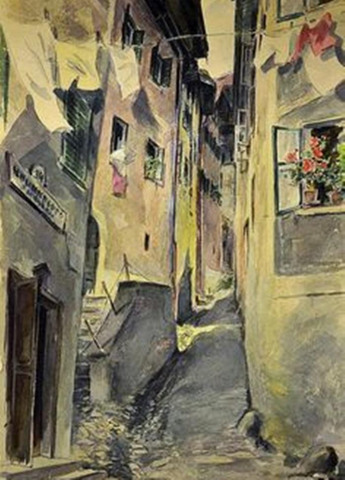 Hitler che dipinge il vecchio villaggio