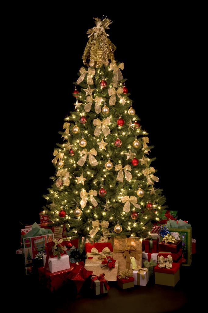 spanja Božično drevo oblečeno