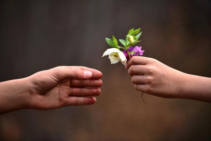 kaj so sanje, ki jih človek daje cvetjem