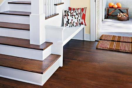 Pavimento di legno in casa