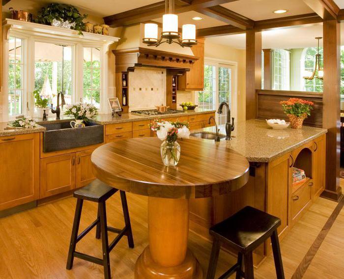 kuchyně v dřevěných domech fotografie