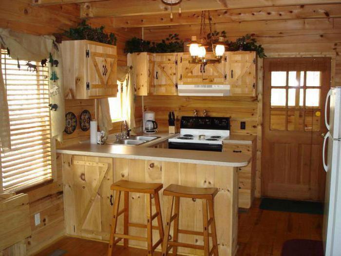 design dřevěné kuchyně
