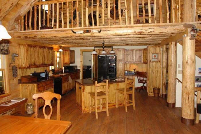 dřevěný kuchyňský interiér