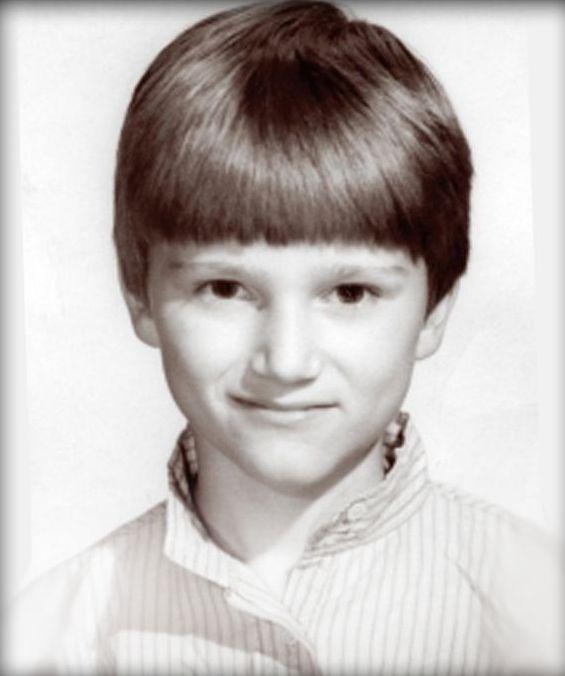 Yegor Barinov durante l'infanzia